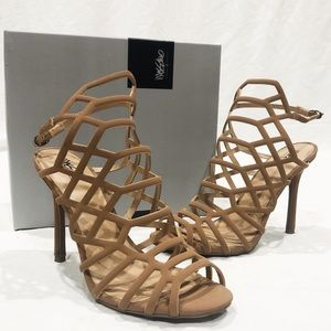 Shoes - Nude Cage Heels